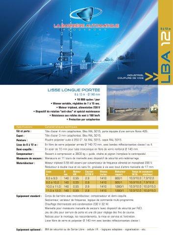 LBA 12 (LISSE LONGUE PORTÉE  8 à 12 m - Ø 140 mm )