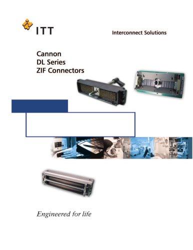 DL Series ZIF Connectors Catalog