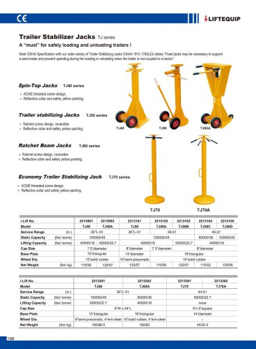 MATERIAL HANDLING EQUIPMENT/I-LIFT/TRAILER STABILIZER JACKS/TJ SERIES