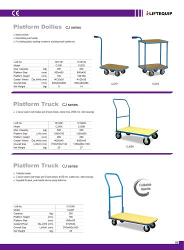 Platform Dollies CJ series