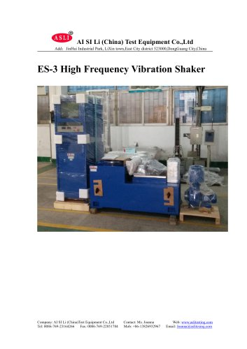 ES-3 vibration test stand Wooden Packaging