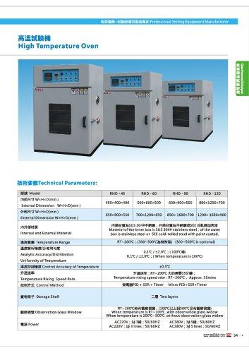 High Temperature oven       RHD Series