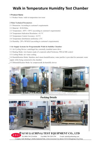 humidity and temperature test chamber / environmental / walk-in / with constant temperature and humidity control THR-Volume