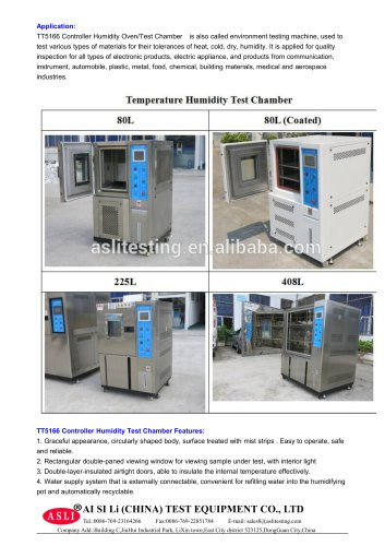 humidity test cabinet / humidity and temperature / temperature / alternating TH-80-C