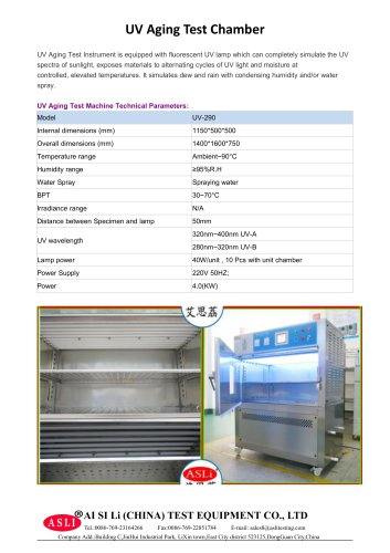 photostability test cabinet / solar simulation / stainless steel / UV  UV-Volume