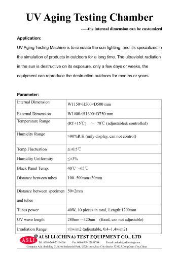 photostability test chamber / climatic / UV light aging / illumination  UV-290