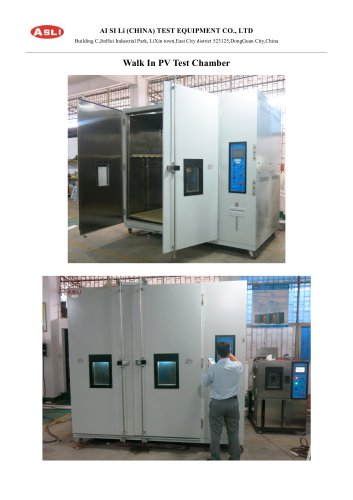 PV(photovoltaic) Moudles Test Chambers