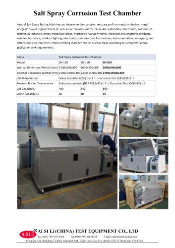 salt spray test cabinet / salt spray corrosion / environmental / for the aeronautical industry SH-200