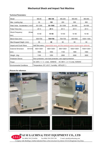 shock resistant test equipment / for solar cells / for photovoltaic modules / battery MS-100