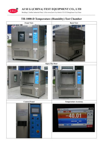 TH-1000-D Temperature (Humidity) Test Chamber