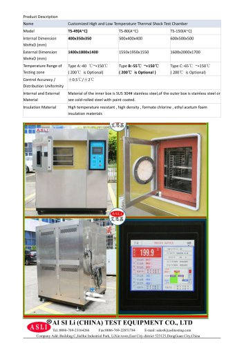 thermal shock test chamber / environmental / cooling / accelerated  TS-49-B