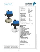 2 way ball valve M1 with electric actuator