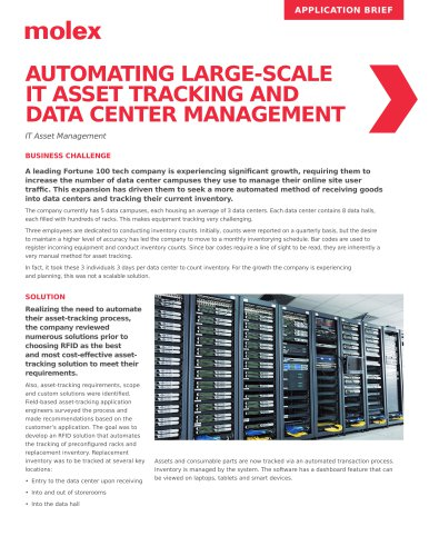 AUTOMATING LARGE-SCALE IT ASSET TRACKING AND DATA CENTER MANAGEMENT