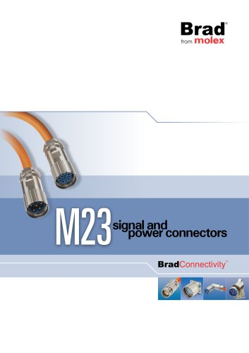 BradConnectivity M23 signal and power connectors