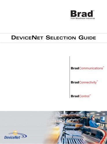 DeviceNet Selection Guide (for North American standards)