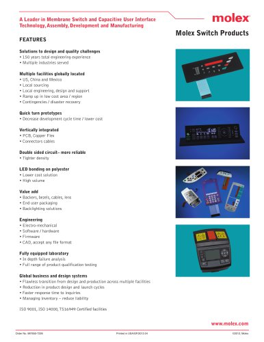 Molex Switch Products