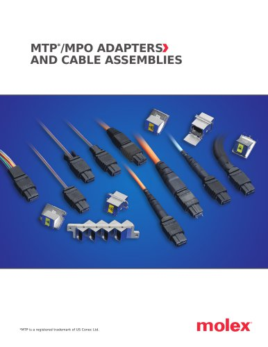 MTP*/MPO ADAPTERS AND CABLE ASSEMBLIES