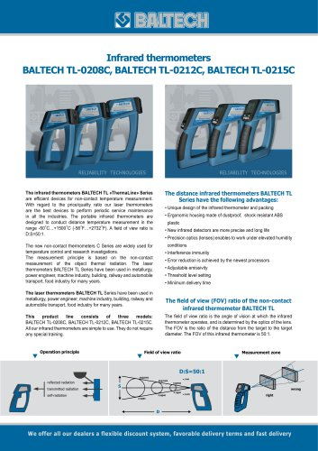 Infrared Thermometers BALTECH TL