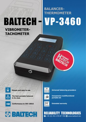 Vibration Meter-Tachometer-balancer-thermometer BALTECH VP-3460