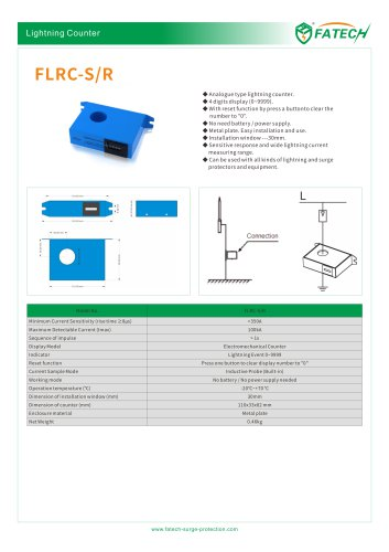 FATECH Reset Function 43mm hole Lightning Counter FLRC-S/R-43