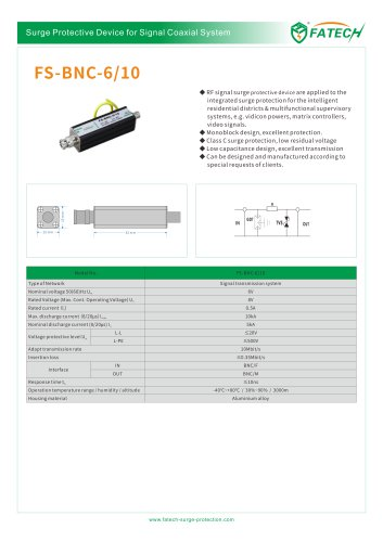 FATECH surge arrester FS-BNC for signal system protection