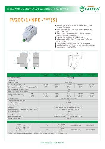 FATECH surge arrester FV20C/1+NPE-275S for low-voltage power system