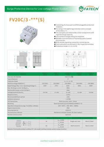 FATECH surge arrester FV20C/3-440 for AC POWER protection