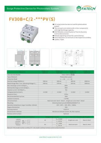 FATECH surge arrester FV30B+C/2-xxx PV S for Solar photovoltaic system