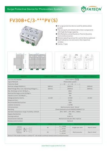 FATECH surge arrester FV30B+C/3-xxx PV S for Solar photovoltaic system