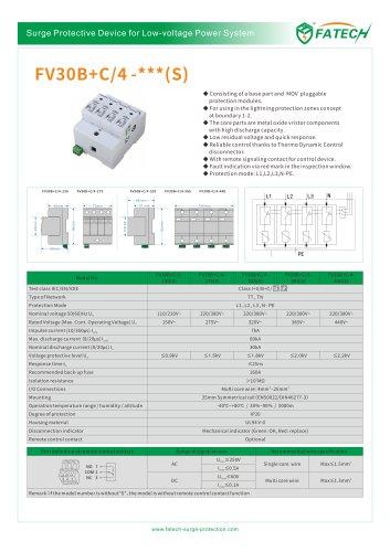 FATECH surge arrester FV30B+C/4-275 for low-voltage power system