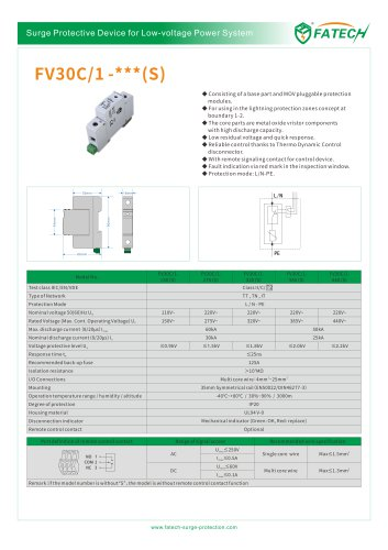 FATECH surge arrester FV30C/1-320S for ac power supply