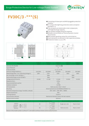 FATECH surge arrester FV30C/3-275S for power supply application