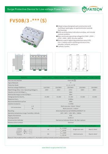 FATECH surge arrester FV50B/3-275 for Iimp50ka AC power protection