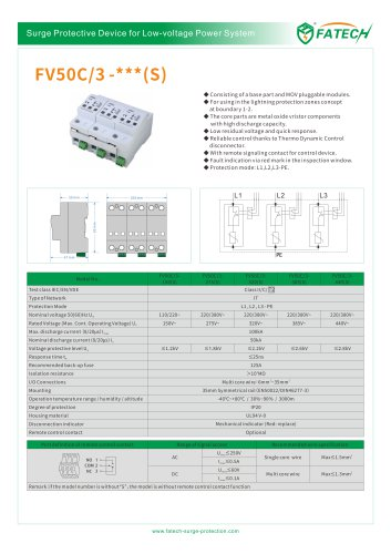 FATECH surge arrester FV50C/3-275 for power supply