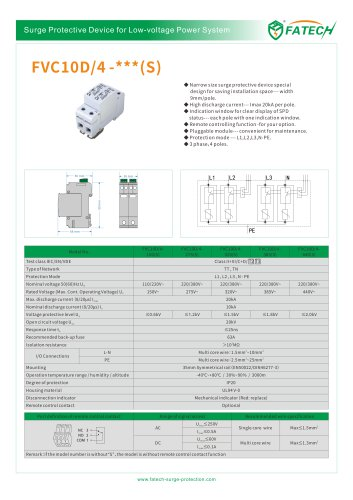 FATECH surge arrester FVC10D series for power supply system
