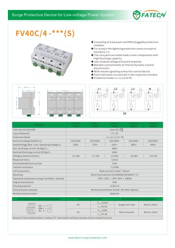 FATECH surge protector FV40C series for AC power supply