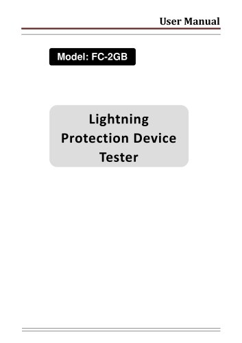 FATECH Test device FC-2GB for testing Metal Oxide varistor (MOV) & gas discharge tube