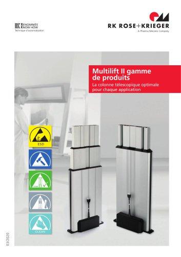 Gamme colonnes télescopiques Multilift II