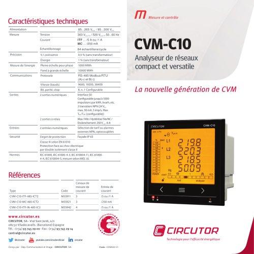 CVM-C10 Analyseur de réseaux compact et versatile
