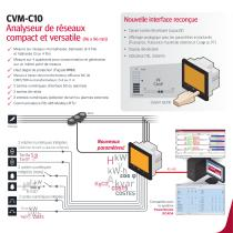CVM-C10 Analyseur de réseaux compact et versatile - 2