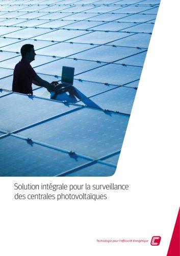 Solution intégrale pour la surveillance des centrales photovoltaïques
