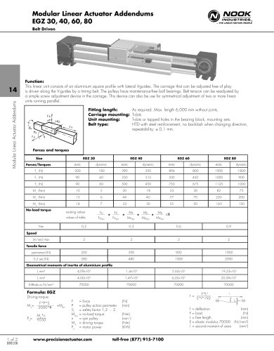 NEW: EGZ MODULAR LINEAr ACTUATOR