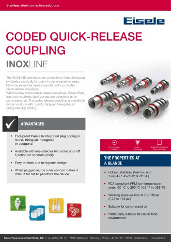 Coded quick-release coupling