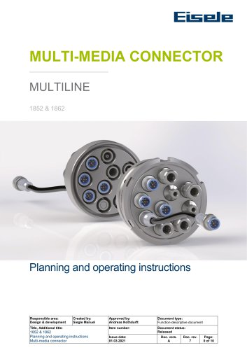 MULTILINE planning and operating instructions