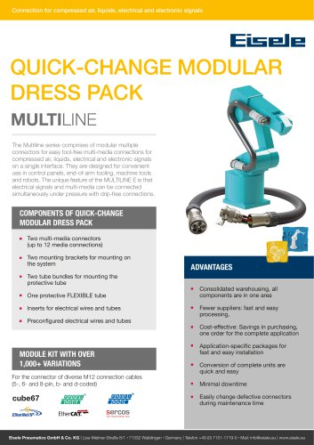 Quick-change modular dress pack