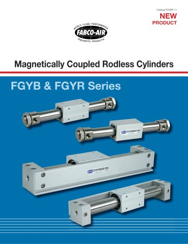 FGYB & FGYR Series Magnetically Coupled Rodless Cylinders