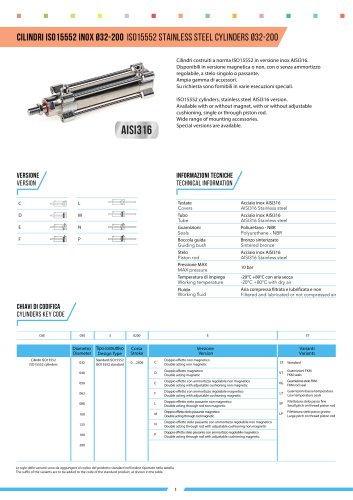 CYLINDERS 6E ISO 15552 Ø32-200