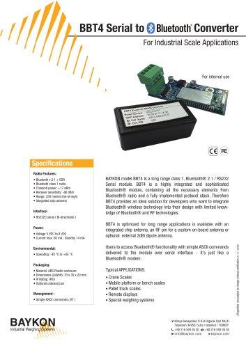 Baykon BBT4 Serial to Bluetooth Converter