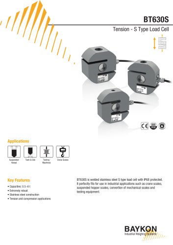 Baykon BT630S Tension - S Type Load Cell