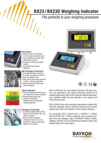 Baykon BX23 / BX23D Weighing Indicator